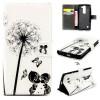 Дети и одуванчика Дизайн Кожа PU откидная крышка карточки бумажника держатель чехол для LG Magna H502