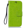 Зеленый Любители и одуванчика Стиль Тиснение Классический откидная крышка с подставкой Функция и слот кредитной карты для LG Leon/C40 nokia 5
