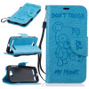 Светло-синий медведь Стиль Тиснение Классический откидная крышка с подставкой Функция и слот кредитной карты для HUAWEI Y3 II