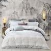 Mercury Home Textiles (MERCURY) Хлопок и хлопок Окрашенные четыре части набора сигарет простой кровати 4 комплекта двойной 1,5-метровой кровати