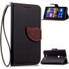 Черный Дизайн Кожа PU откидная крышка бумажника карты держатель чехол для Nokia Lumia 925 чехол deppa prime classic для nokia n9 lumia 800 кожа черный