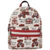 丹尼熊(DANNY BEAR)英美熊系列双肩包女生背包DBWB165073-179白色配红色 把生活过成最美的诗句