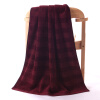 где купить Золото полотенце домашний текстиль хлопок сатин цвет банное полотенце одно платье красный 424g 135 * 75cm по лучшей цене