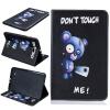 Синий медведь Стиль тиснение Классический откидная крышка с функцией подставки и слот для кредитных карт для SAMSUNG GALAXY Tab A 9.7 T560 камуфляж стиль тиснение классический откидная крышка с функцией подставки и слот для кредитных карт для samsung galaxy tab a 9 7 t550