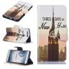 Башня дизайна PU кожа флип крышку кошелек карты держатель чехол для HUAWEI P9