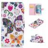 Красочные бабочки Дизайн PU кожа флип кошелек карты держатель чехол для IPHONE 7 красочные бабочки дизайн pu кожа флип кошелек карты держатель чехол для iphone 5c