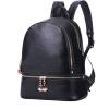Пакет Биби (baobibi) заклепки плечо сумка женская Корейский минималистский женской средней школы студентов рюкзак мешок 5113- черные летние модели минималистский версия минималистский ресторан