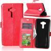 Red Style Classic Flip Cover с функцией подставки и слотом для кредитных карт для Asus Zenfone 3 ZE552KL pink style classic flip cover с функцией подставки и слотом для кредитных карт для asus zenfone zoom zx551ml