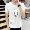 lucassa короткими рукавами футболки мужские шею футболки мультфильма печатных короткими рукавами футболки мужчин 19050 серый XXL