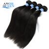Angie Queen Hair Indian Virgin Hair Прямые наращивания человеческих волос 100% индийские прямые волосы 4Bundles 8 1B Color Free Shipping super queen hair 1b