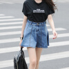Гладеуотер джинсовой высокой талией юбка воланами юбки LWQZ173306 светло-синий L vivaheart талии отверстие хит цвет джинсовой юбки женская юбка юбка дикий vwqz174247 синий a m