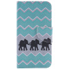 купить Дизайн слона Кожа PU откидной крышки Кошелек для карты Держатель для LG NEXUS 5X недорого