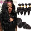 Перуанские пушистые человеческие волосы Пакеты 4 шт. 7A Перуанские девичьи волосы Перуанские волнистые волосы Ослабленные пурпуновые волосы для волос 100 г / шт. защитные пластиковые пакеты plastic liners 100 шт