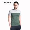 YOMS мужская рубашка с воротником поло-стиль рубашка поло printio фк фшм