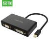 (UGREEN) Mini DP к HDMI / VGA / DVI тройной конвертер интерфейс мини Displayport переходник aopen hdmi dvi d позолоченные контакты aca311