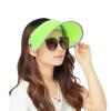 Эва Лав летом защиты от солнца козырек колпак УФ шляпы мужчины и женщины на открытом воздухе путешествие дикий пляж шляпа шляпа солнца, покрывающие ее лицо флуоресцентный зеленый
