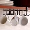 Под Run Europe Чжэ висит стеллажи 4 сетки многоцелевых кухонного полотенца ролл Свободных штапельный стеллаж для хранения стойки шпателя ложка чашки висит управление полотенцедержателем рука коричневой формулы перчаточной