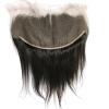 QDKZJ 13X6 необработанная черная перуанская кружевная передняя застежка-молния для ушей для ушей с фронтальной прямой с детскими волосами Бесплатная доставка