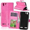 Розовая красная классическая флип-обложка с функцией подставки и слотом для кредитных карт для Lenovo VIBE K5/K5 Plus/A6020 protect защитная пленка для lenovo vibe k5 plus a6020 глянцевая