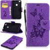 Фиолетовая бабочка с тиснением Классическая флип-обложка с функцией подставки и слотом для кредитных карт для HUAWEI Nova Lite/P8 Lite 2017 huawei p8 lite