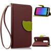 Коричневый Дизайн Кожа PU откидная крышка бумажника карты держатель чехол для LG Leon C40 фиолетовый орхидеи дизайн pu кожа флип кошелек карты держатель чехол для lg leon