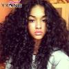Красивые перуанские кудрявые волосы Virgin YYONG 4 комплекты Перуанские глубокие курчавые девичьи волосы Дешевые 8A Дешевые перуанские кудрявые волосы