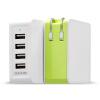 Scud SC-U410 четыре USB выход адаптер питания / зарядное устройство для нескольких портов ввода / вывода 5V / 2.4A зеленого яблока аккумулятор scud m60q7 usb
