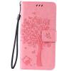 Pink Tree Design PU кожа флип крышку кошелек карты держатель чехол для LG K8