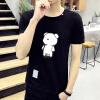футболки lucassa короткими рукавами футболки мужские шею футболки мультфильма печатных короткими рукавами футболки мужчин 19050 серый XXL
