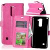 Розовая красная классическая флип-обложка с функцией подставки и слотом для кредитных карт для LG Stylus 2 Plus/LG Stylo 2 Plus сотовый телефон lg stylus 3 m400dy