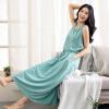 (INMAN) платье темперамент платье юбка лето Xiaoxing новый самосовершенствование без рукавов жилет юбка лето пляж юбка озеро вода синий L 8521030414