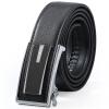 Red Valley HONGU men's automatic buckle belt fashion leisure cowhide belt gift box H21204907 dark