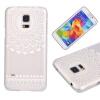 Юбка цветочным узором Мягкая тонкая резиновая силиконовая оболочка для геля TPU для SAMSUNG Galaxy S5 Mini клип кейс ibox fresh для samsung galaxy s5 mini черный