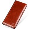 Семь волков мужской кожаный бумажник длинный отрезок коровьей бизнес случайный моды два раза бумажник из мягкой кожи красновато-коричневый 3A3062393-28 бумажник мужской в днепропетровске в мост сити