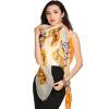 STORY OF SHANGHAI Шелковые шарфы Женские осенние шелковые шарфы Зимние теплые платки Шарфы Orange Grades