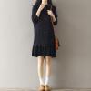 CITYPLUS просторное плиссированное платье шифона с лотосовым воротником платье плиссированное с рисунком