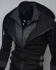 Men's Fashion Casual Hooded Cardigan Sweater Jacket