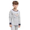Только Луи (VIV & LUL) Детские комплекты белья комплекты белья младенца мальчиков Qiuyiqiuku пижамы DV418318 Хетер Грей 110см