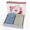 Kam бамбука текстильные волокна бамбука полотенца полотенца мягкие абсорбирующий полотенце обычный простой в установке два коробка подарка синий и серый / серовато-зеленый 90г / 34 × 72см полоса полотенца kipkep полотенце 170х100