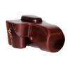 Ранчо EM-217 SLR Камера Чехол Защитный чехол Кожаный чехол SLR Incoated Leather Coffee Canon 7D / 7DII + 18-135 / 15-85 Объектив чехол
