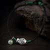 Поток минималистский PH7  S925 серебряный браслет женский малек ручной резьбой полой женский черный нефрит браслет из бисера