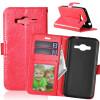Red Style Classic Flip Cover с функцией подставки и слотом для кредитных карт для Samsung Galaxy J3 2016/J320