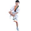Тхэквондо униформа детская хлопчатобумажная летняя пол-рукава Тхэквондо Дорожная одежда хлопок с короткими рукавами мужская и женская одежда для тренировок