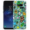 Yomo S8 Samsung мобильный телефон оболочки мобильный телефон защитный рукав оболочки телефон рельеф s8 текстура твердой оболочки монстра каракули серии