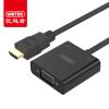 Улучшенный человек (UNITEK) HDMI VGA конвертер HD видео с аудио адаптером порта PC-TV кабель коробки дисплея проекторов черный Y-6333BK