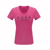 купить 8264 спортивный летний открытый скорость сушки движения шеи V-жа дышащая абсорбента K7S1R5509 с коротким рукавом футболки Тонкий розово-красный M дешево