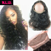 360 Lace frontal With hair bundles Body wave Brazilian Virgin human Hair bundles with frontals 22x4x2 lace frontal with 2 hair 8a brazilian virgin hair with closure body wave human hair with frontals hotlove lace frontal closure brazilian body wave