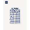 Hailan Главная HNDCD2V039A рубашка с короткими рукавами мужчины 2017 лето новый хит цвет клетчатый трикотаж рубашка шелк мерсеризованный хлопок рубашка синий флаг 170 / 88A (48) рубашка