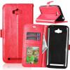 Red Style Classic Flip Cover с функцией подставки и слотом для кредитных карт для Asus Zenfone Max ZC550KL pink style classic flip cover с функцией подставки и слотом для кредитных карт для asus zenfone zoom zx551ml