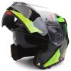 Tanked Racing Motorcycle Helmet Racing Helmet Facelift Helmet Dual Lens T270 Four Seasons Universal XL Code Black Gear